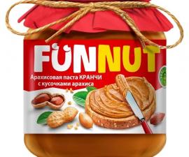 Арахисовая паста с кусочками арахиса Crunch FUNNUT 340 г